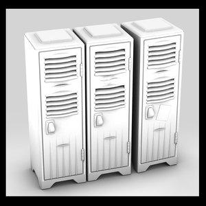 3ds max metal locker