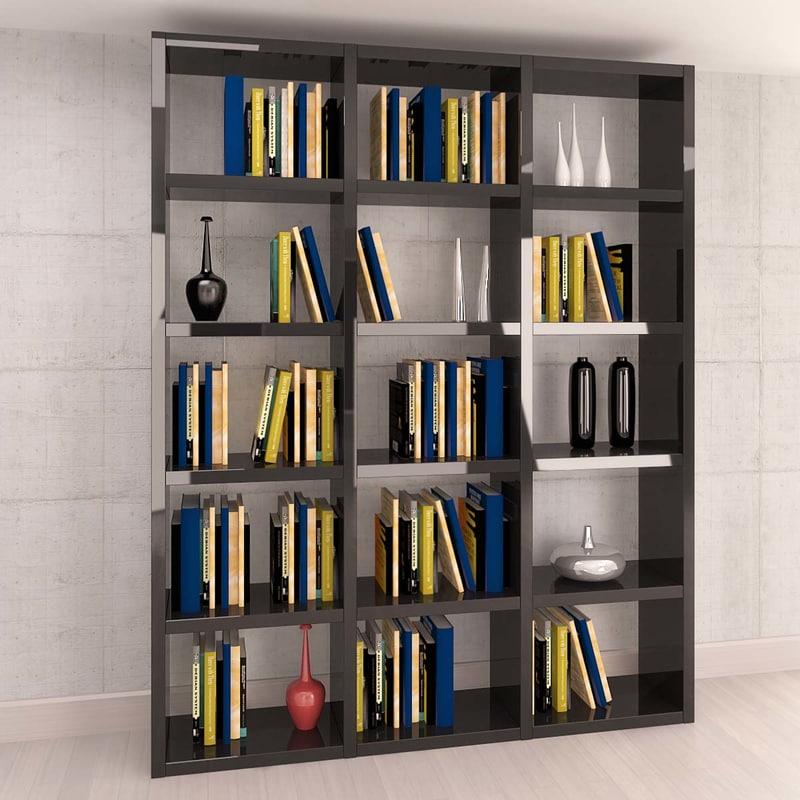 3dsmax library books vases