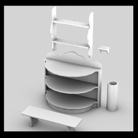 shelves old simple 3d max