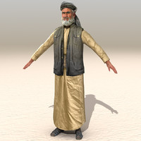 arab afghani casual 07 3d 3ds
