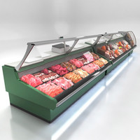 3d model deli counters