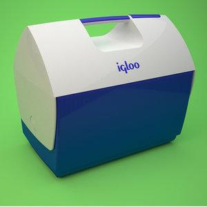 igloo cooler 3d model