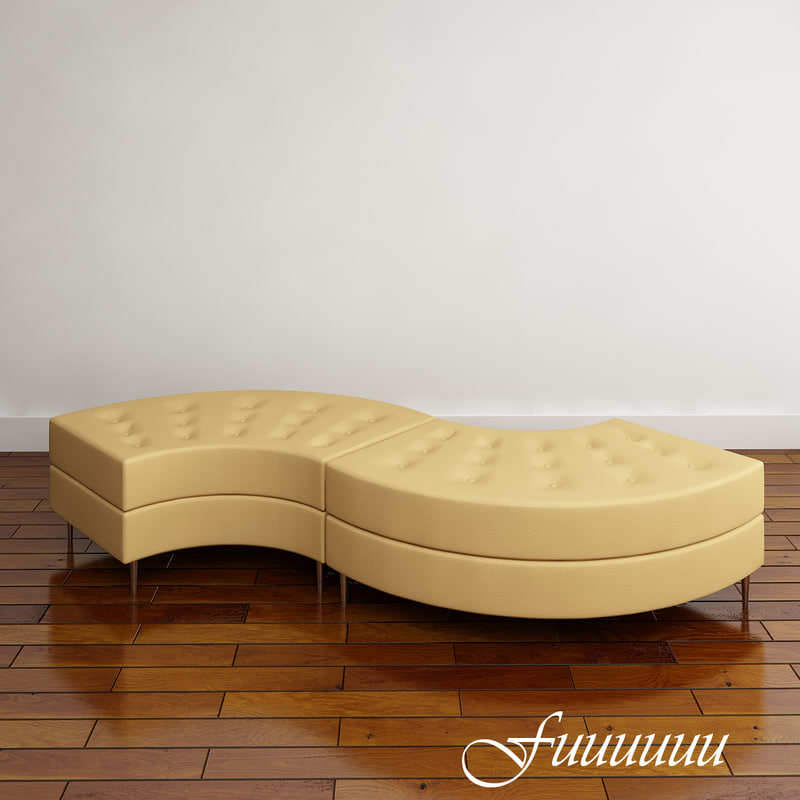 curved modular seating chairs 3d 3ds