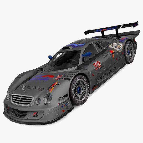 3d model mercedes clk gtr