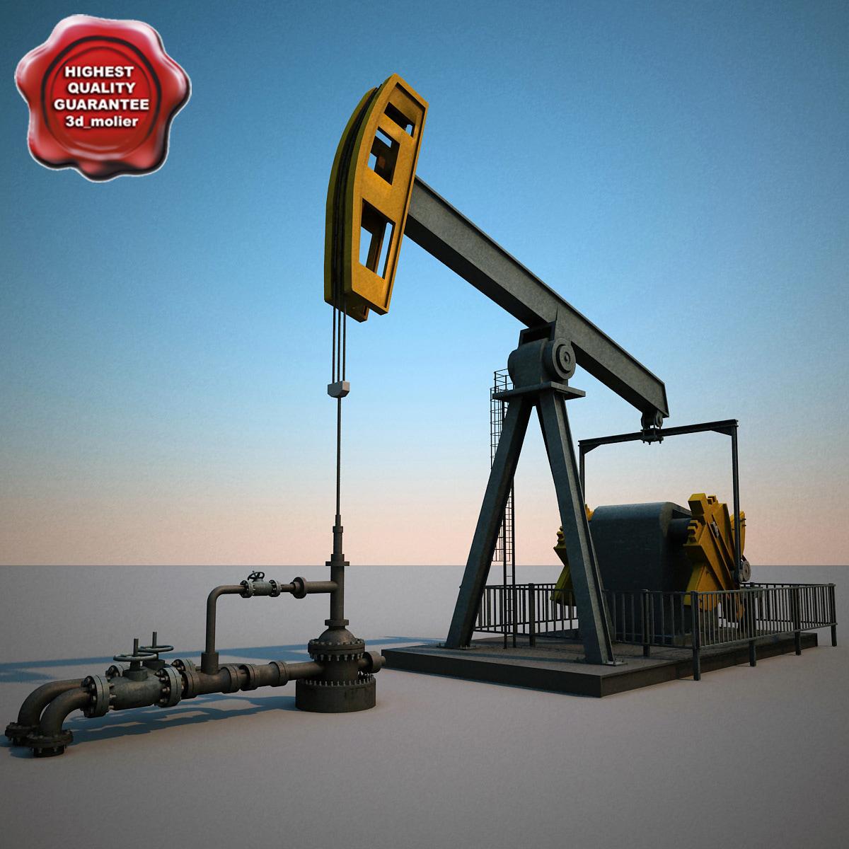 3d oil pump pumpjack