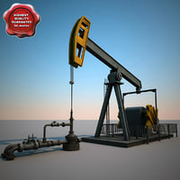 3d oil pump pumpjack