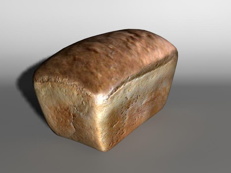 3d model realistic bread