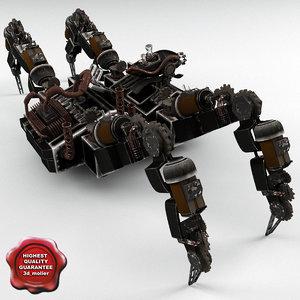 3dsmax robot spider r2