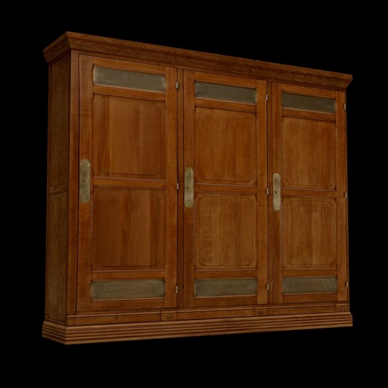 3d oak lockers model
