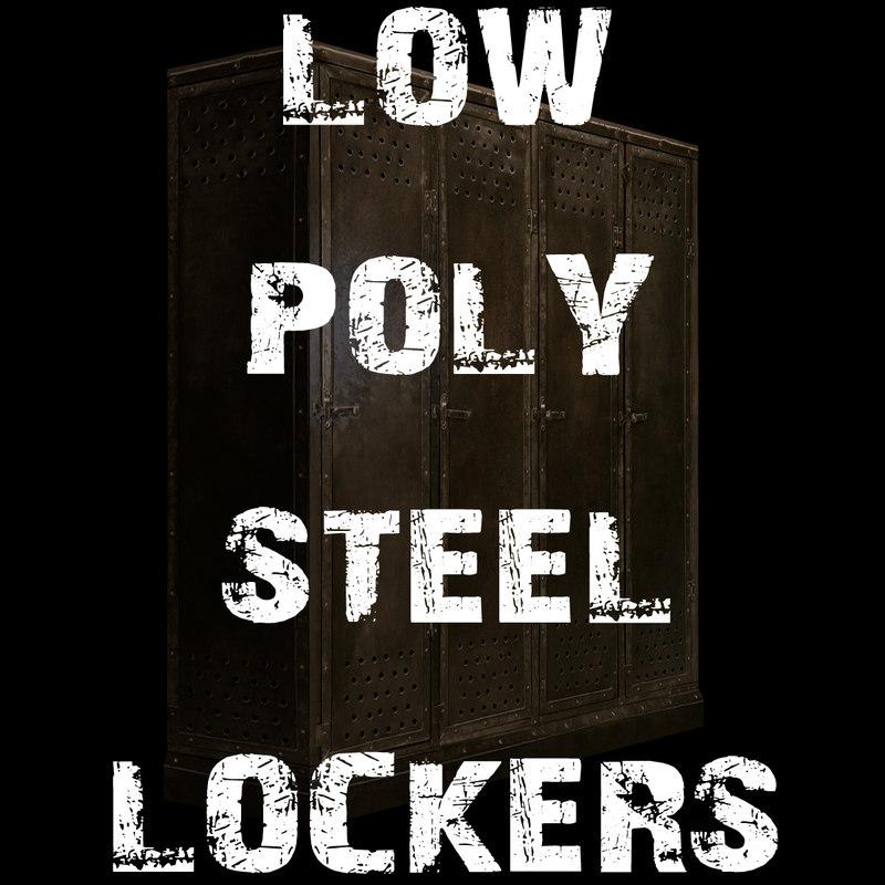 3d steel lockers model