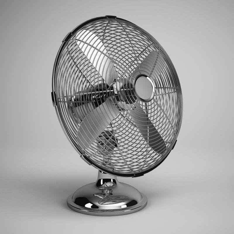 desk fan 03 3d model