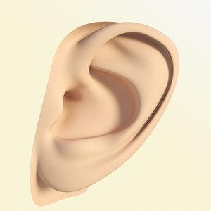 free ear head man 3d model