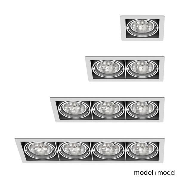 3d grid spotlights lights