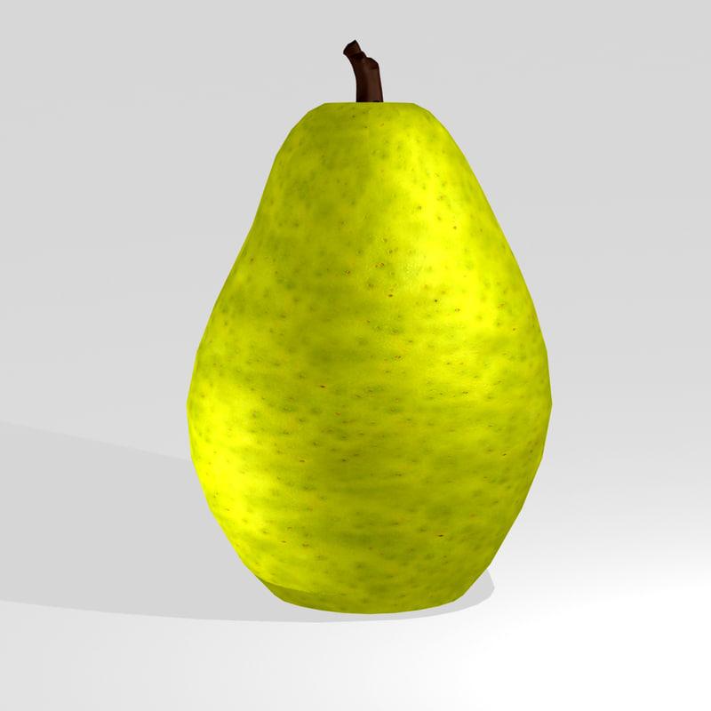 hd pear 3d model