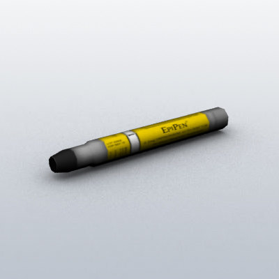 3ds max ready epinephrine autoinjector