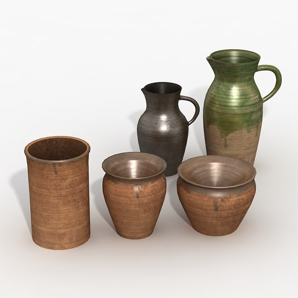 3ds max kitchen jugs