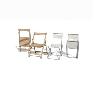 folded chairs 3d max