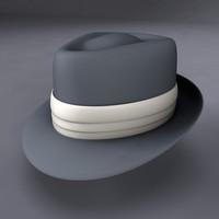 3d model fedora hat frank sinatra