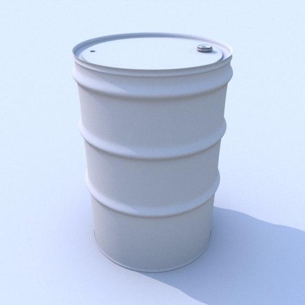 3d model steel drum barrel