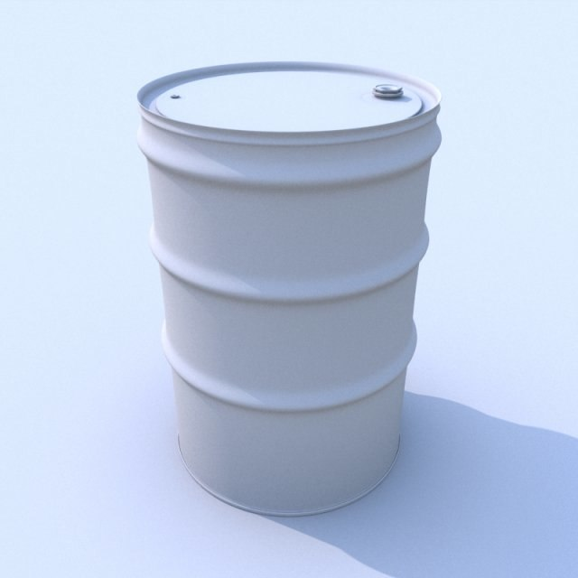 3d model steel drum barrel