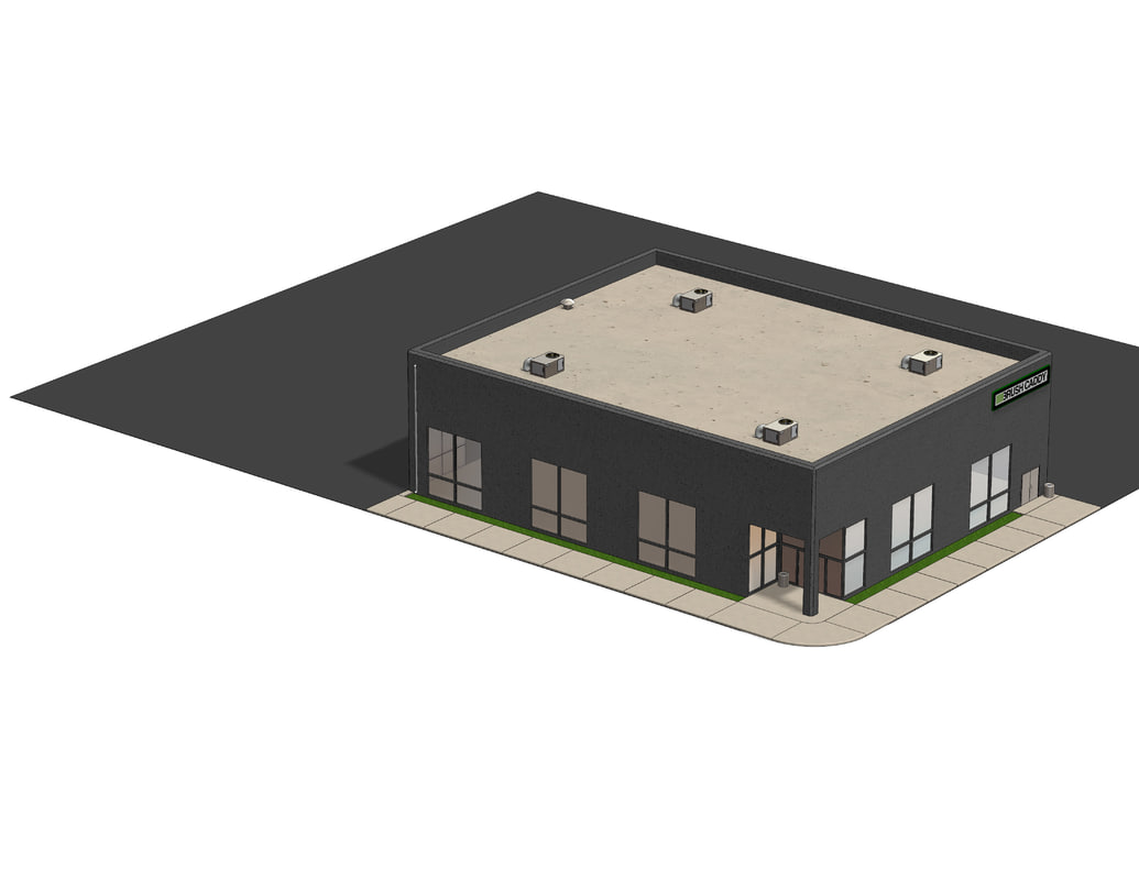 small warehouse office building 3d model