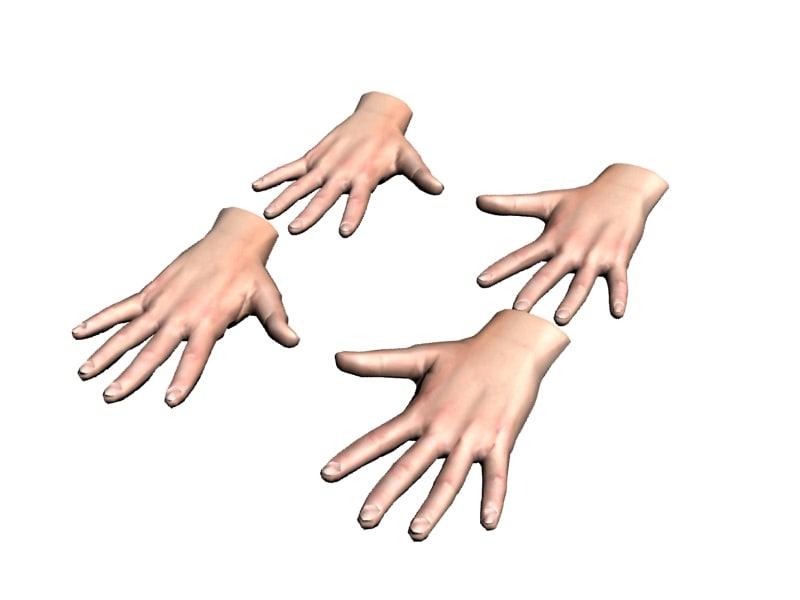 human hand max