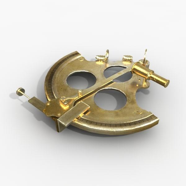 3d model sextant navigate