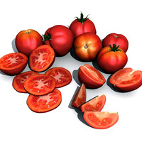 3d tomatoes hq model