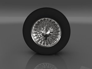 3d max car tyre