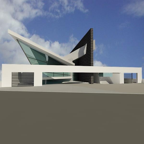 modern house 3ds