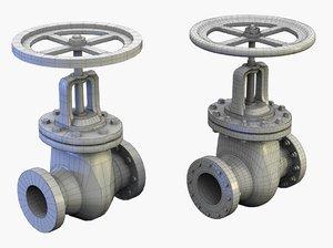 3d model valve modelled