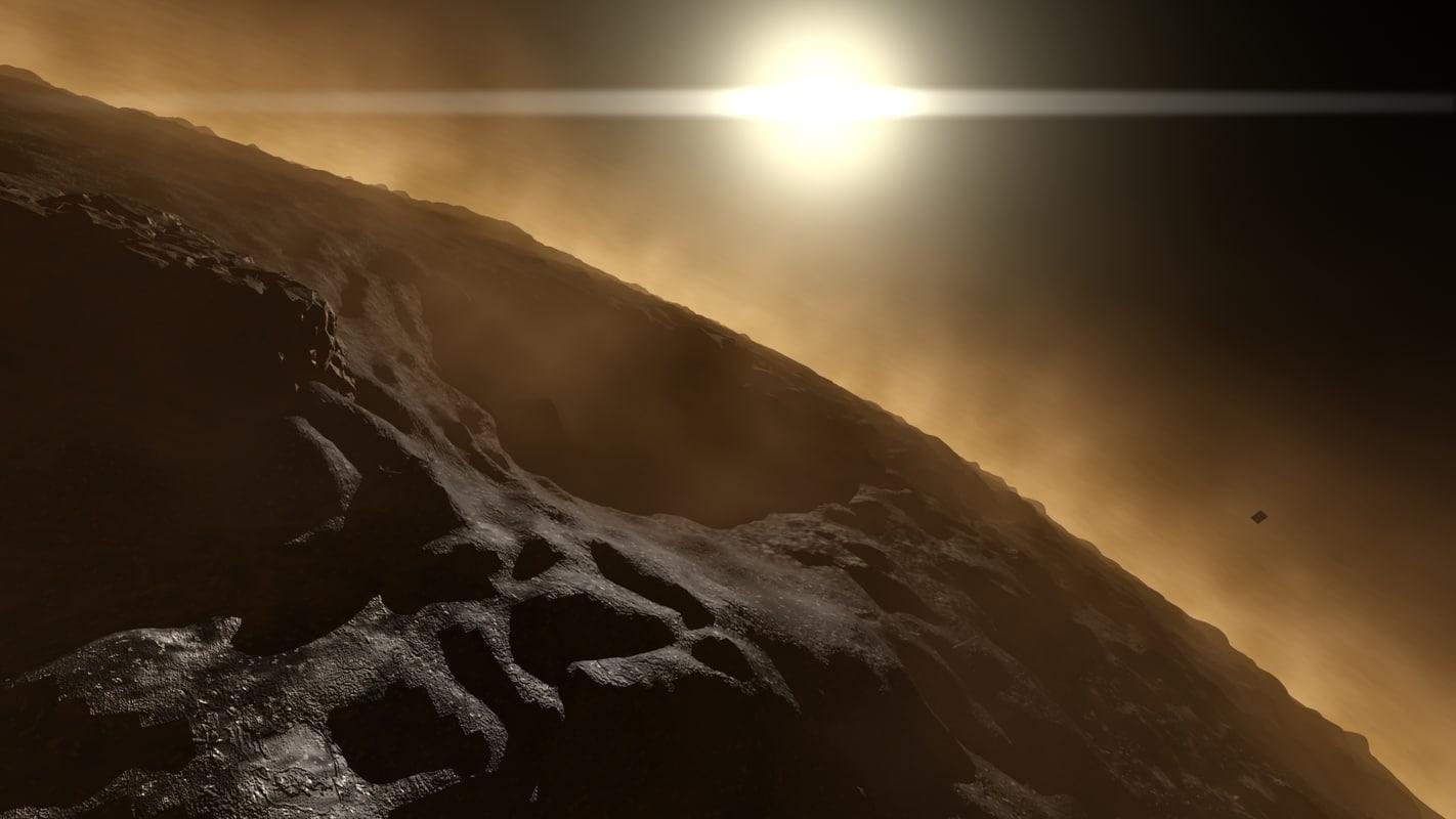 planet landscape 3d model