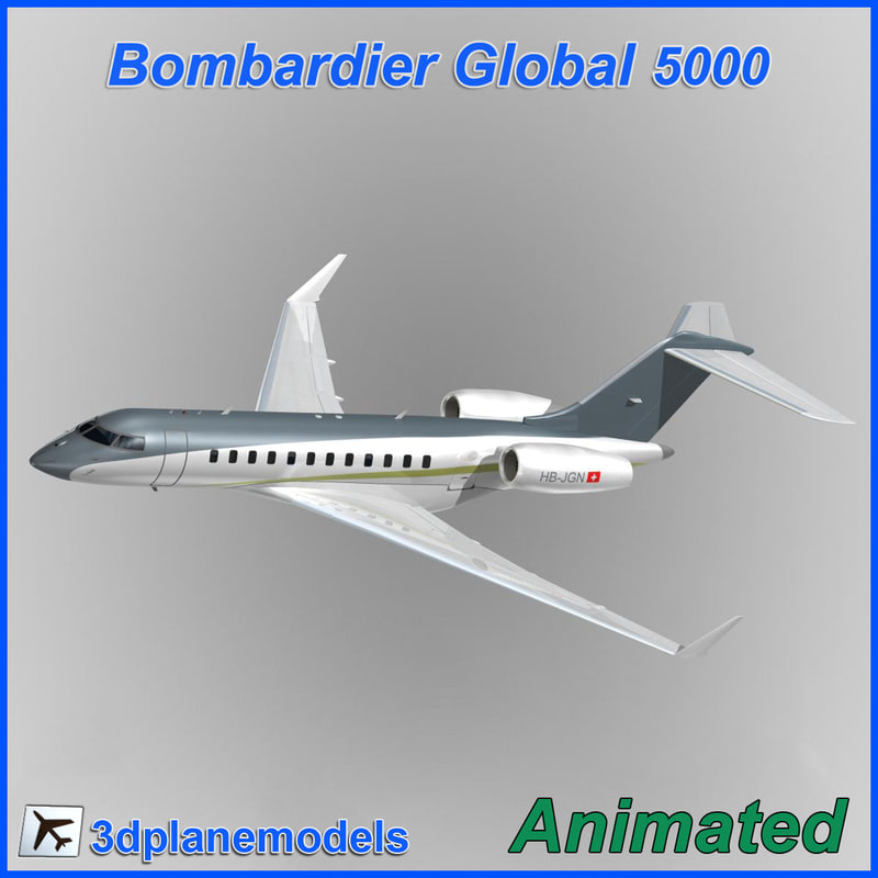 3d model bombardier global 5000 1 interior