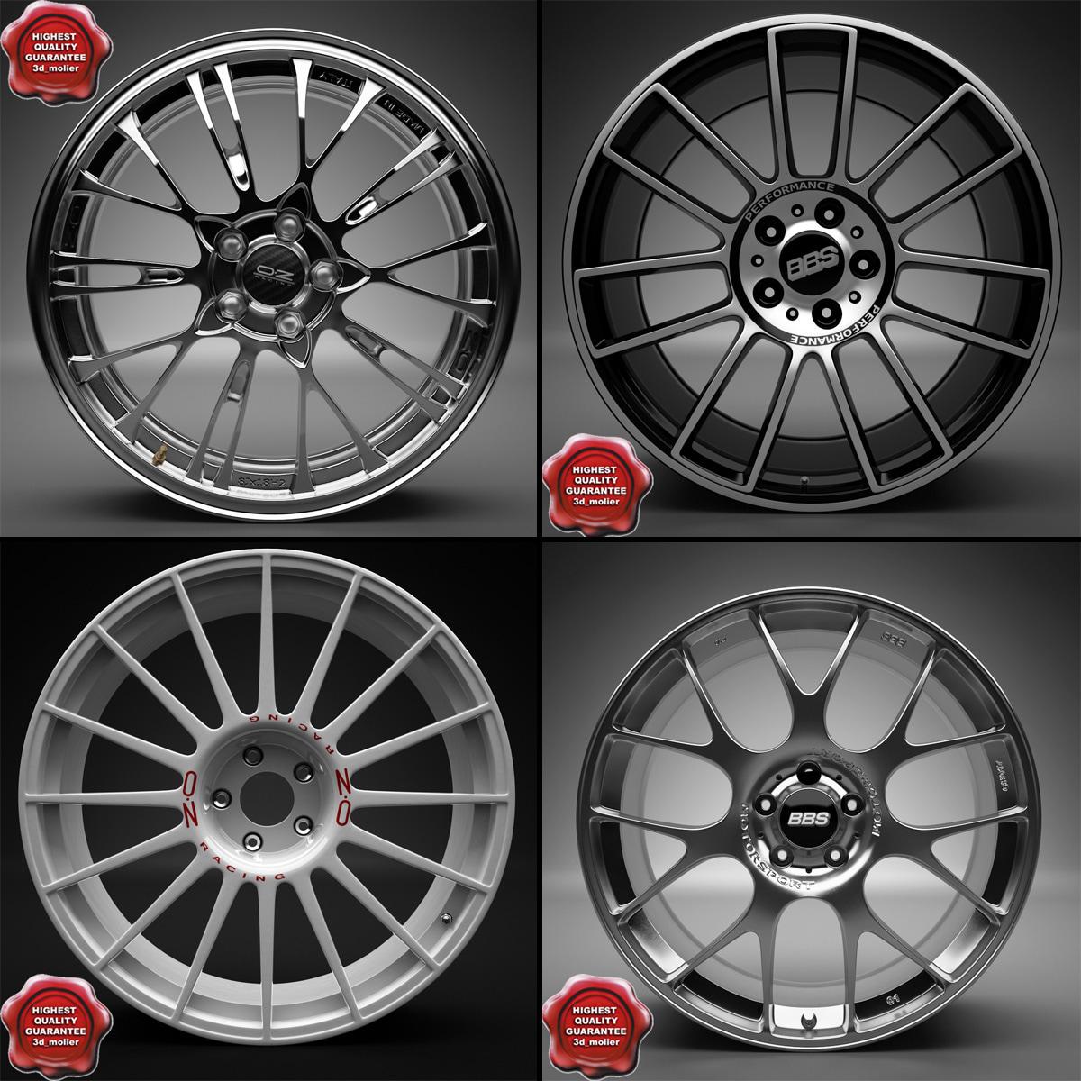 3d model auto wheel trims