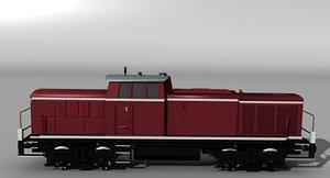 german v90 diesel locomotive 3d 3ds