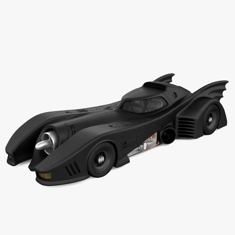 3d model realistic batmobile 1989