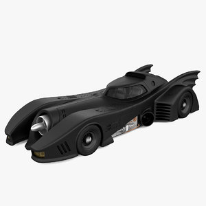 3d model realistic batmobile 1989