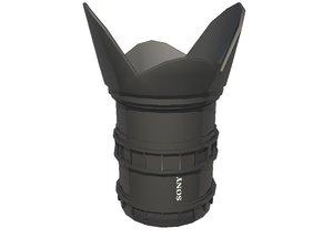 sony camera lens 3d model