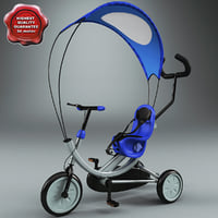 3d children tricycle v5 model