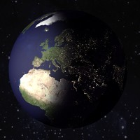 earth night 3d max