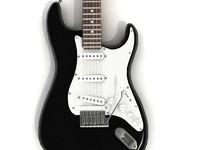 fender guitar 3d model