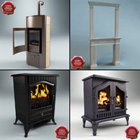 fireplaces interiors modelled max