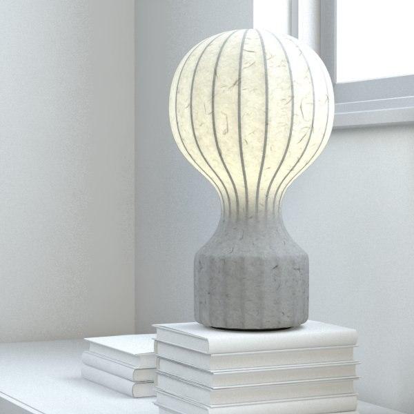 3d model castiglioni gatto table lamp