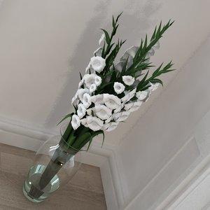 gladiolus bouquet 3ds