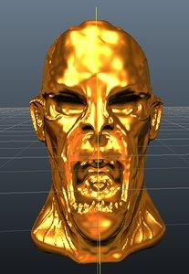 golden zombie obj