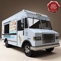 ice cream truck c4d