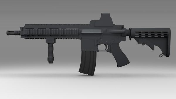 3d model m416 assault rifle