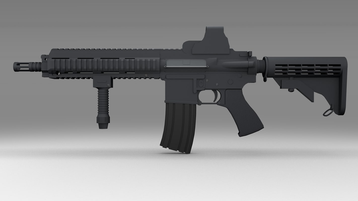 3d model m416 assault rifle