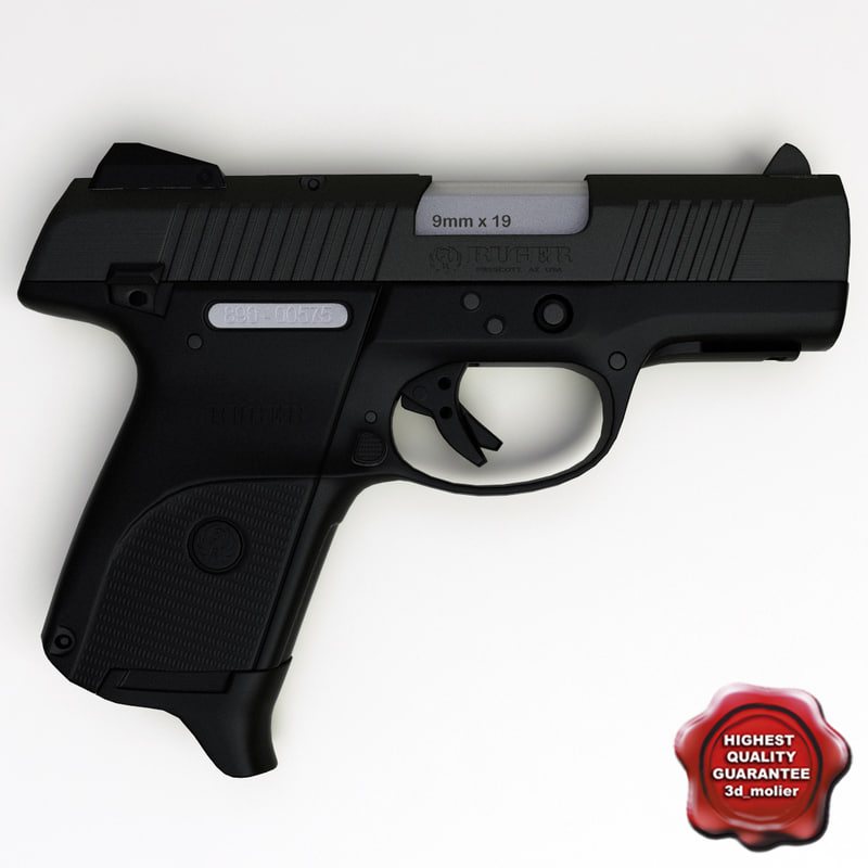 3d model pistol ruger sr9