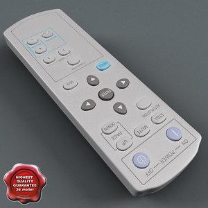 projector remote 3d model